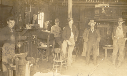 Denny Chester, blacksmith shop_small