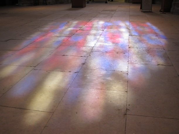 reflection of stained glass window_sized