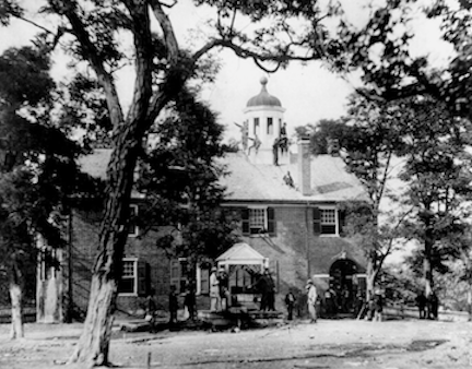 Fairfax Court House, VA - with Union soldiers - Image source: Wikimedia Commons