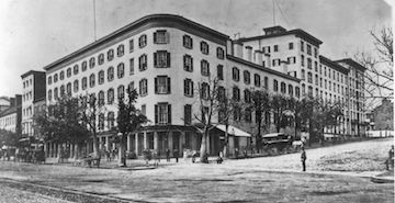The Willard Hotel, Washington, D.C. during civil war Image source: WikiCommons