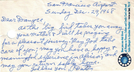 Dad's Note 1968